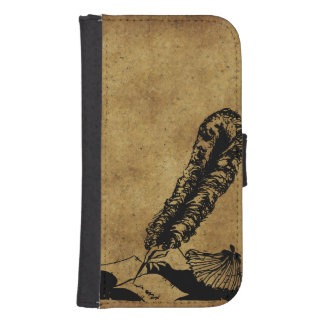 Vintage Author Galaxy S4 Wallet Cases