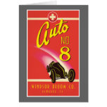 Vintage Auto Car Product Label Art Greeting Cards