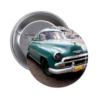 Vintage Auto in Cuba 2 Inch Round Button