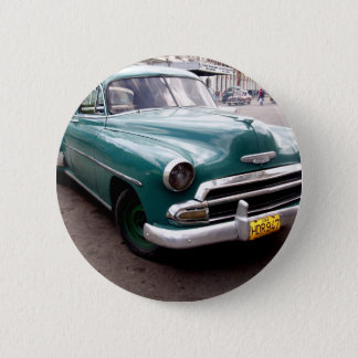 Vintage Auto in Cuba Button