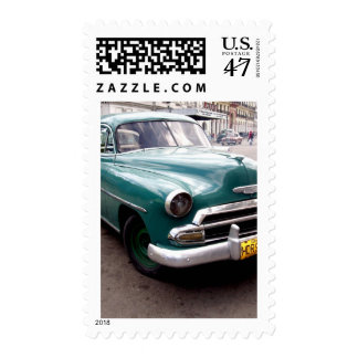 Vintage Auto in Cuba Postage Stamp