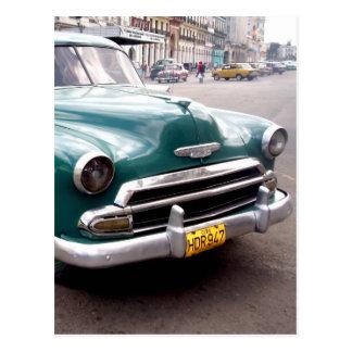 Vintage Auto in Cuba Postcard