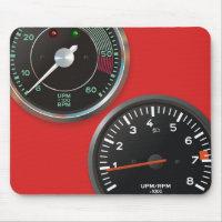 Vintage auto instruments / Classic car gauges Mouse Pad