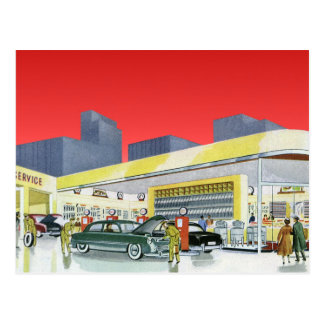 Vintage Auto Mechanics Complete Car Service Garage Postcard