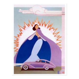Vintage Auto Postcard