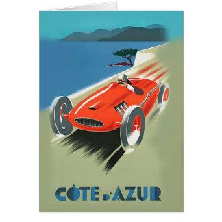 Vintage Auto Racing Card