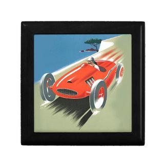 Vintage Auto Racing Jewelry Box
