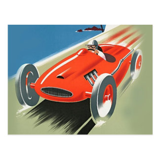 Vintage Auto Racing Post Cards Postcards