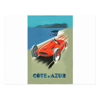 Vintage Auto Racing Postcard