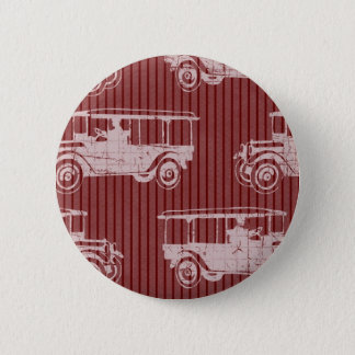 Vintage Auto Red Pinback Button