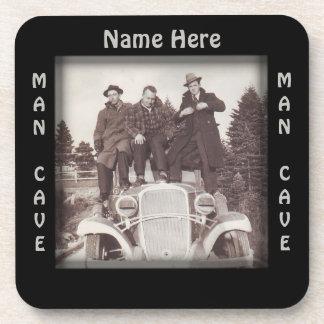 Vintage Automobile Man Cave Beverage Coaster
