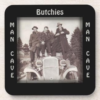 Vintage Automobile Photo Man Cave CUSTOM Coaster