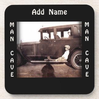 Vintage Automobile Photograph Man Cave Coaster