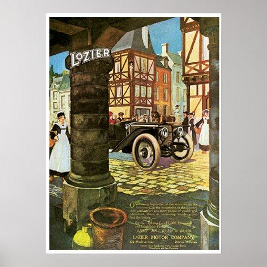 Vintage Automobile Poster