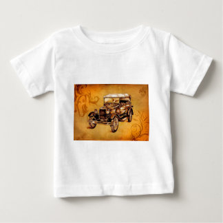 Vintage automobile retro fineart F050 Baby T-Shirt