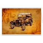 Vintage automobile retro fineart F050 Greeting Card