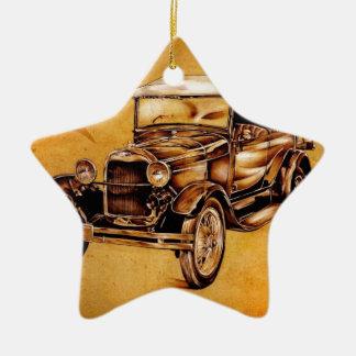 Vintage automobile retro fineart F050 Ceramic Ornament