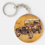 Vintage automobile retro fineart F050 Keychain