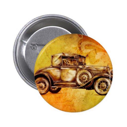 Vintage automobile retro fineart F051 Pin