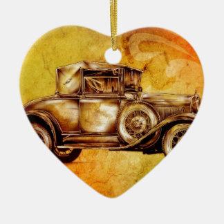 Vintage automobile retro fineart F051 Ceramic Ornament