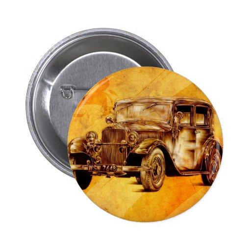 Vintage automobile retro fineart F052 Pins