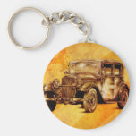 Vintage automobile retro fineart F052 Keychains