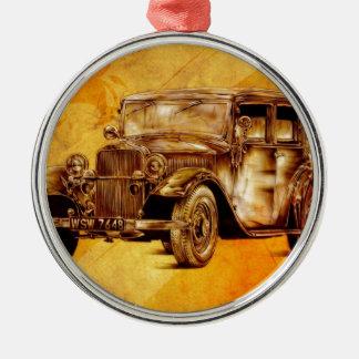Vintage automobile retro fineart F052 Metal Ornament