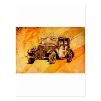 Vintage automobile retro fineart F052 Postcard