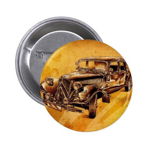 Vintage automobile retro fineart F053 Pin