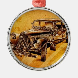 Vintage automobile retro fineart F053 Metal Ornament