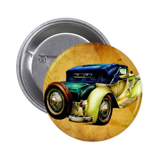 Vintage automobile retro fineart F054 Pins