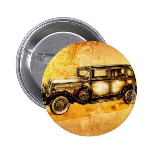 Vintage automobile retro fineart F055 Pin