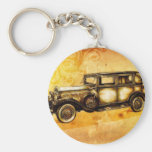 Vintage automobile retro fineart F055 Keychain