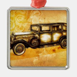 Vintage automobile retro fineart F055 Metal Ornament