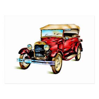 Vintage automobile retro FT30 Postcard