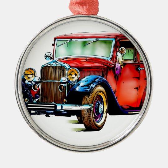 Vintage automobile retro FT32 Metal Ornament