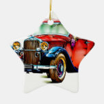 Vintage automobile retro FT32 Christmas Tree Ornament
