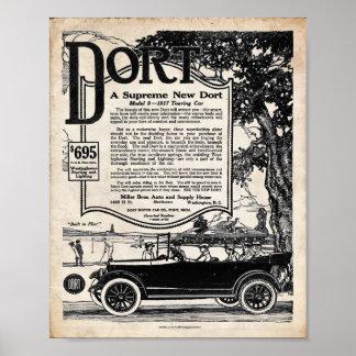 Vintage Automobile Sign - Dort Motor Car 1916 Poster