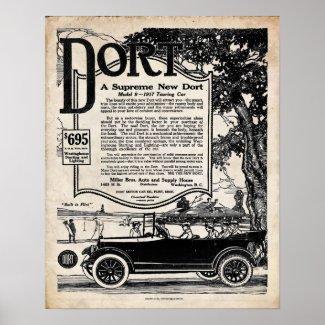 Vintage Automobile Sign - Dort Motor Car 1916 Print