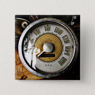Vintage automobile speed gauge button