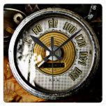 Vintage automobile speed gauge clocks