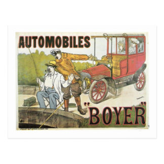 Vintage Automobiles Boyer ad Postcard