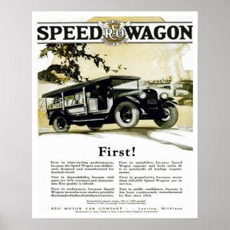 Vintage Automotive Poster Original REO Speed Wagon
