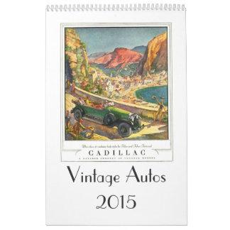Vintage Autos 2015 Calendar