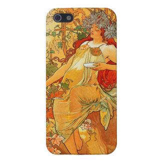 Vintage Autumn by Alphonse Mucha Case For iPhone SE/5/5s