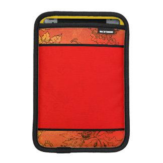 Vintage Autumn Fall Leaves Orange Red iPad Mini Sleeves