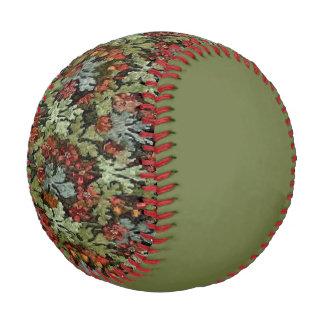 Vintage Autumn Floral Green Baseball