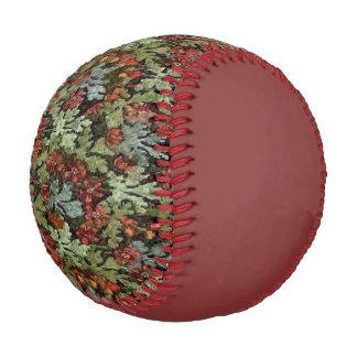 Vintage Autumn Floral Russet Baseball