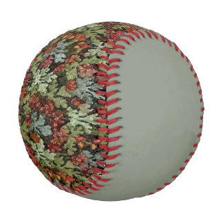 Vintage Autumn Floral Sage Baseball