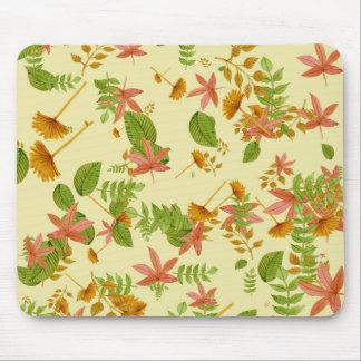 Vintage Autumn foliage Mouse Pad